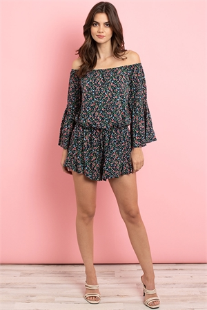 C42-A-2-R4040 NAVY FLORAL ROMPER 3-2-1