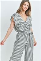 SA3-5-1-J3029 BLACK STRIPES JUMPSUIT 3-2-1