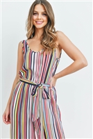 S8-11-3-J1587 MULTI COLOR STRIPES JUMPSUIT 3-2-1