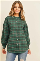 S12-6-2-T13817 GREEN CHECKERED TOP 2-2-2