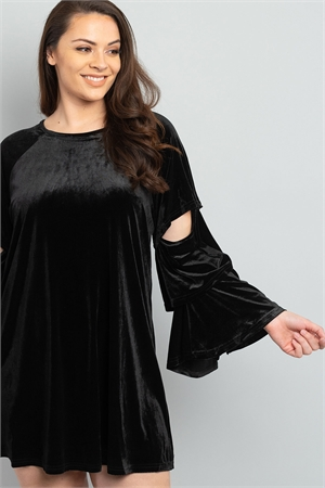 SA4-5-2-D42634X BLACK PLUS SIZE DRESS 3-2-1