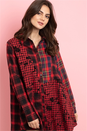 S7-3-2-D42494 RED CHECKERED DRESS 2-2-2