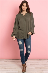 S15-8-4-T3169 OLIVE TOP 3-2-3