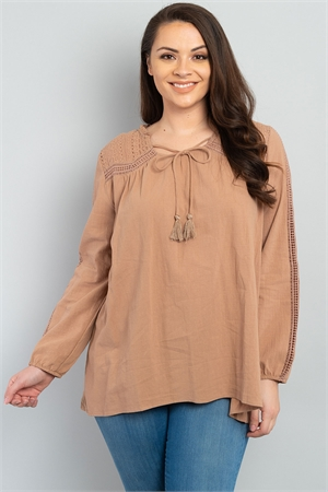 S11-6-4-T2380X MOCHA PLUS SIZE TOP 2-2-2