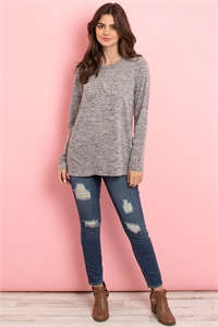 S11-9-4-T2364 HEATHER GRAY TOP 2-2-2