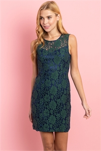 S14-4-4-D1334 GREEN NAVY DRESS 1-3-2-1