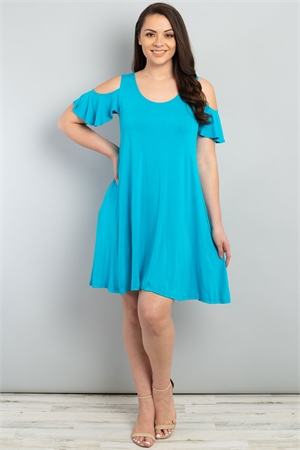 C64-A-3-D101512X TURQUOISE PLUS SIZE DRESS 2-2-2