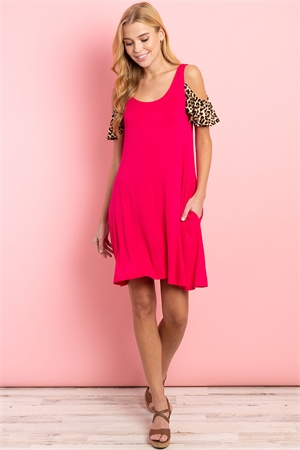 C30-A-2-D1015 FUCHSIA PRINT DRESS 2-2-2