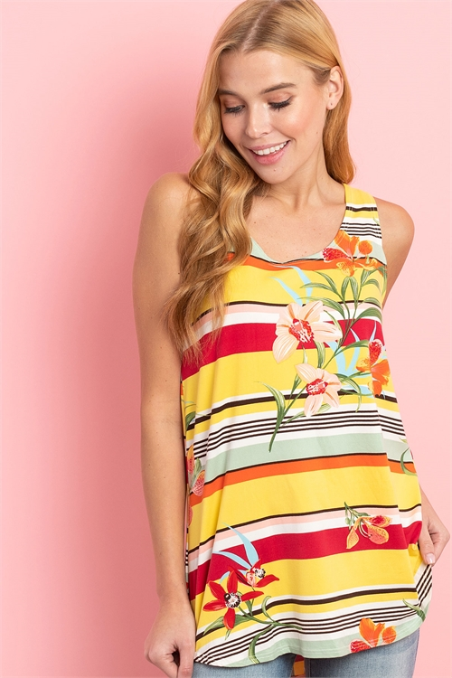 C48-A-1-T22241 YELLOW STRIPES TOP 2-2-1
