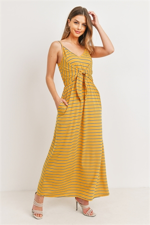 C14-A-2-D11103 MUSTARD STRIPES DRESS 3-2-1