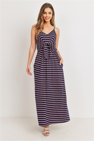 C14-A-3-D11103 NAVY STRIPES DRESS 3-2-1