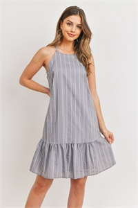 C36-A-2-D4566 GRAY STRIPES DRESS 2-2-2