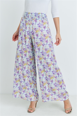 C38-A-2-P8243 BLUE PURPLE FLORAL PANTS 2-2-2