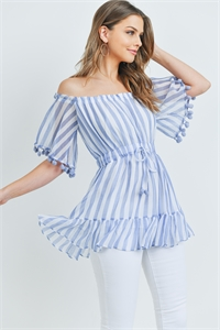 S8-14-4-T1234129 BLUE STRIPES TOP 2-2-2