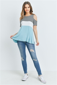 C76-A-1-T5408 BLACK BLUE STRIPES TOP 2-2