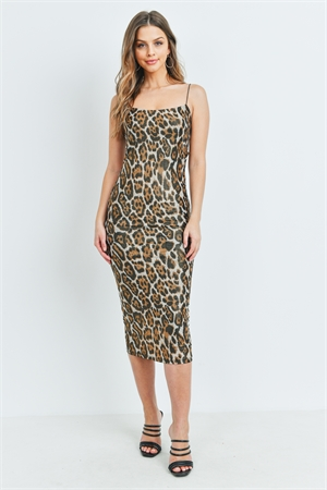 S12-9-3-D4108 BROWN LEOPARD PRINT DRESS 2-2-2