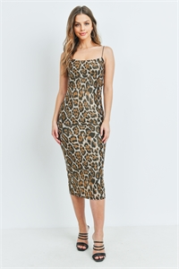 S16-11-1-D4108 BROWN LEOPARD PRINT DRESS 2-2