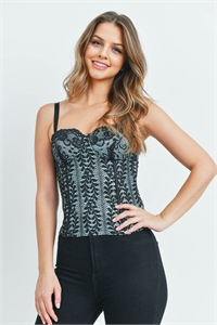 S8-12-1-T6163 BLACK MINT TOP 2-2-1