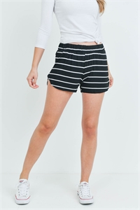 C24-B-1-S13056 BLACK WHITE STRIPES SHORTS 1-2-3