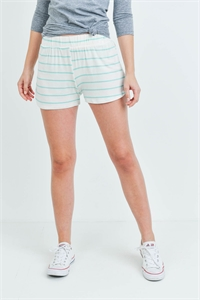 C30-B-1-S13056 OFF WHITE MINT STRIPES SHORTS 2-4