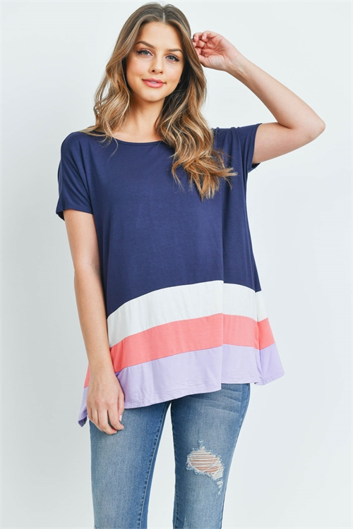 S9-15-1-T24063 NAVY CORAL TOP 2-3-3