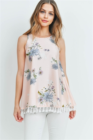 C8-A-1-T1145 PEACH WITH FLOWER TOP 2-2-2