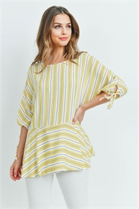 C22-A-1-T2349 YELLOW STRIPES TOP 1-2-2