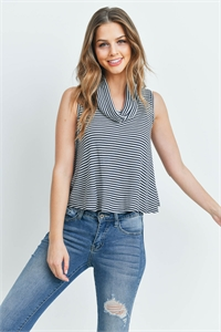 C12-A-1-T1273 BLACK STRIPES TOP 2-2