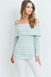 C8-A-1-T2364 SAGE STRIPES TOP 2-1