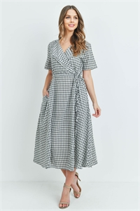 S9-13-2-D14866 BLACK CHECKERED DRESS 2-2-2