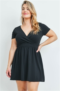 S12-1-1-D4072X BLACK PLUS SIZE DRESS 2-2-2
