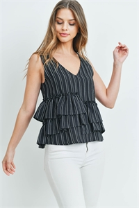 S7-2-4-T0072 BLACK WHITE TOP 3-2-1