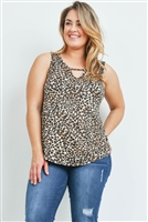 S10-18-3-T71084X ANIMAL PRINT PLUS SIZE TOP 2-2-2