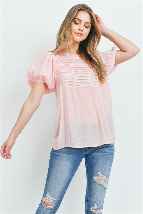 S10-8-4-T3419 BABY PINK TOP 2-2-2