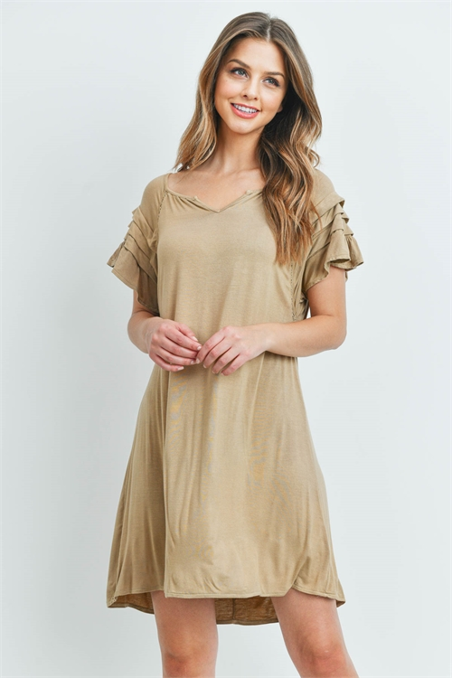 S11-17-3-D20443 LIGHT TAUPE DRESS 2-2-2