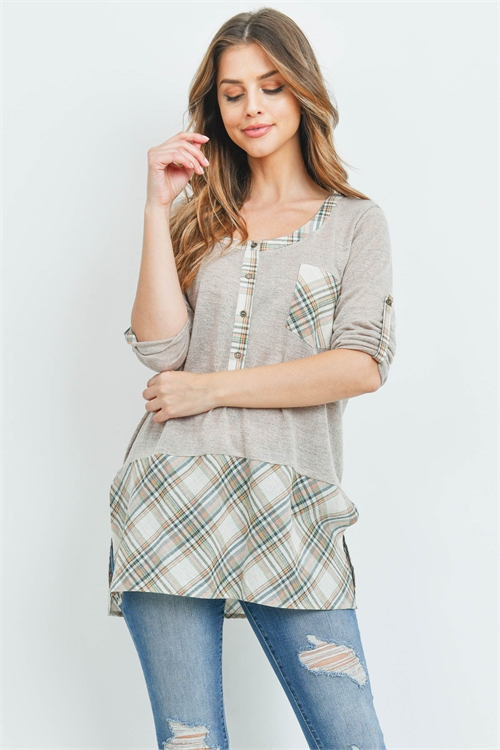 S11-14-4-T22163 TAUPE TOP 2-2-2