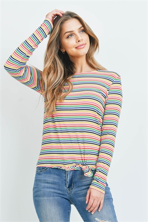 C20-A-1-T5828 MULTI STRIPES TOP 2-2-2