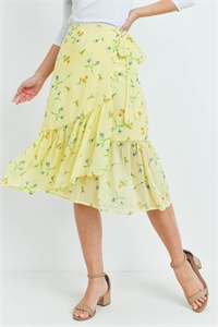 S15-5-2-S7169 YELLOW FLORAL SKIRT 2-2-2