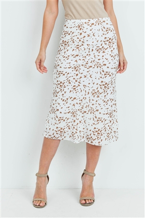 S15-9-4-S7485 IVORY TAUPE SKIRT 2-2-2