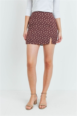 S16-7-4-S9855-3 BROWN WITH FLOWER PRINT SKIRT 3-2-1