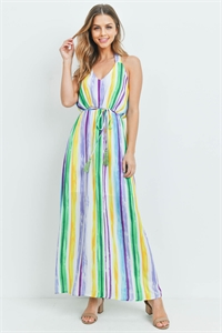 S16-2-3-D73361 MULTI STRIPES DRESS 2-2-2