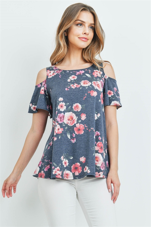 C50-A-1-T711612 NAVY FLORAL TOP 3-2-3