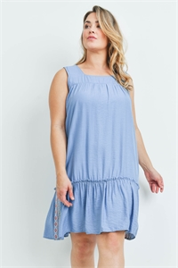 S10-18-2-D2160X BLUE PLUS SIZE DRESS 2-2-2