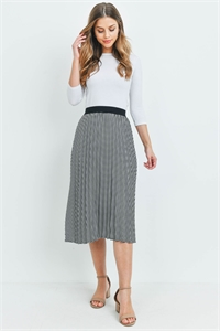 S10-18-4-S9265 BLACK WHITE SKIRT 2-2-2