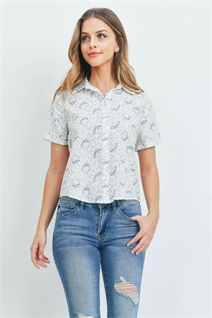 S14-1-3-T1019 - IVORY BLUE TOP 1-3-3