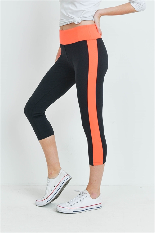 S10-14-2-L100 - ORANGE BLACK LEGGINGS 1-2
