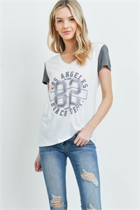 S9-18-3--T1021 - OFF-WHITE CHARCOAL PRINT TOP 1-2-2-2-1