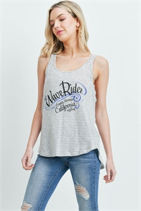 S16-9-3-T1031 - GREY STRIPES PRINT TOP 1-2-2-2-1