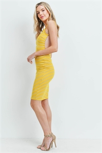 C22-A-1-D5016 MUSTARD STRIPES DRESS 2-2-2