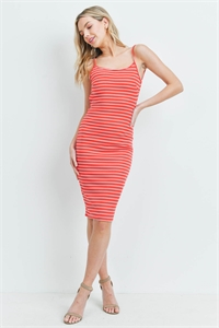 C32-A-1-D5016 RED STRIPES DRESS 1-2-2